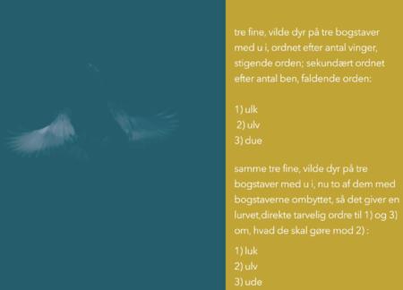 M-bogen Dyr med næb ordnet efter antal vinger – video-audio bog